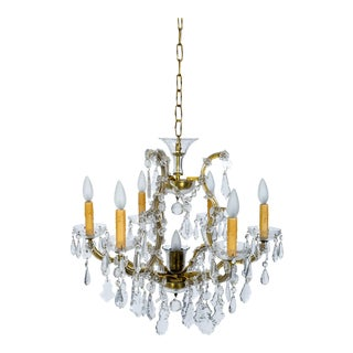 1920s Maria Theresa Style Crystal Chandelier For Sale