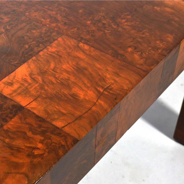 Brown Paul Evans Parsons Table in Burl Patchwork For Sale - Image 8 of 9