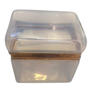 Vintage Murano Opaline Box For Sale