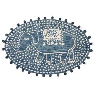 Denim Animal Skin Design Collection Rug - 4′ × 6′ For Sale
