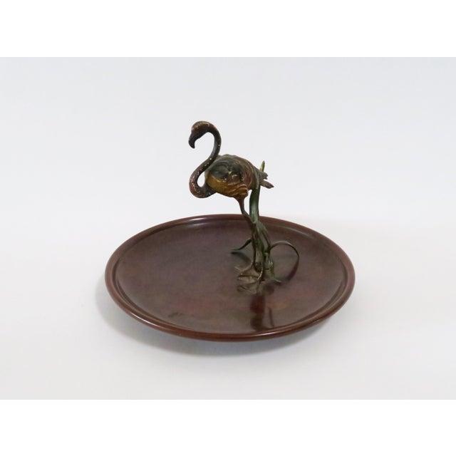 Flamingo Accented Metal Dish - Image 4 of 7
