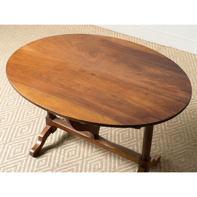 1900 - 1909 Antique 1900s French Mahogany Wine Table For Sale - Image 5 of 6