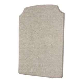 The Crown Headboard - Twin - Charles - Belgian Linen, Oatmeal For Sale