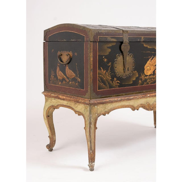 Metal Mid 19th Century Spanish Chinoiserie Trunk For Sale - Image 7 of 13