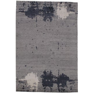 """Bamboo Silk Hand Knotted Area Rug-5'7"""" X 8'2"""" For Sale"""