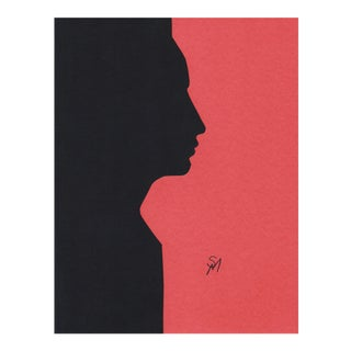 """""""Profile 5 - Rose"""" Minimalist Collage by Sarah Myers For Sale"""