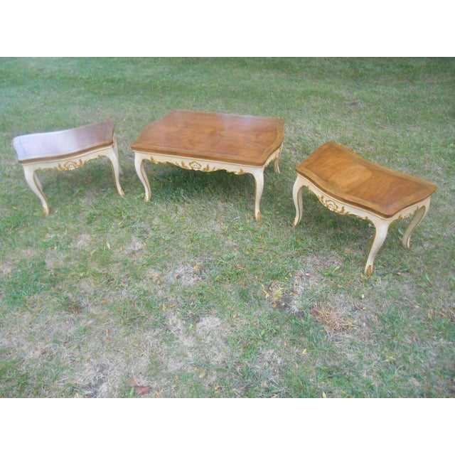 Baker Furniture French Regency Collector Series 3 Piece Coffee Table - Image 4 of 10