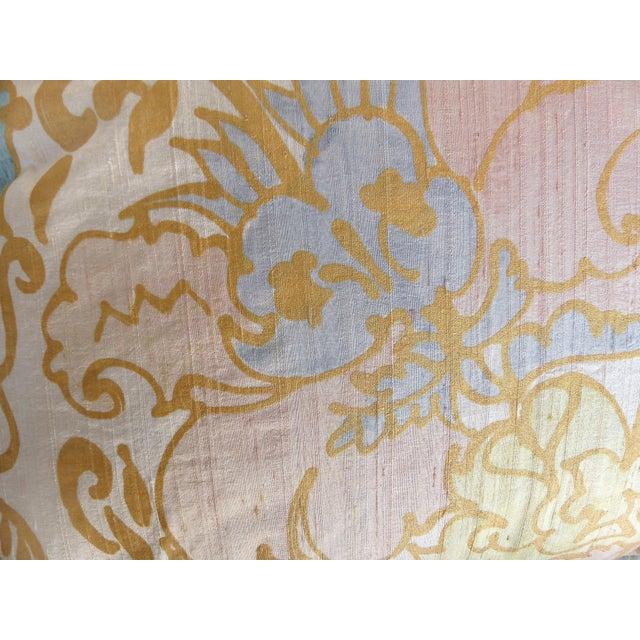 Silk Barbara Beckmann Hand-Printed Silk Bolster Pillows, Pair For Sale - Image 7 of 9