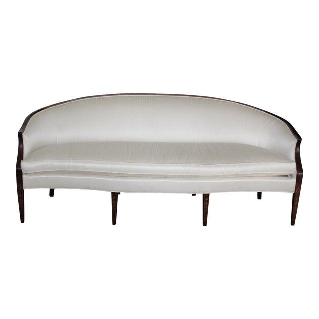 Henredon Baltimore Rounded Back Cream Silk Sofa - Image 1 of 5