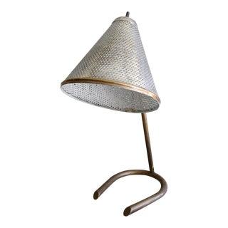 1950s Mid-Century Modern Brass Desk Lamp For Sale