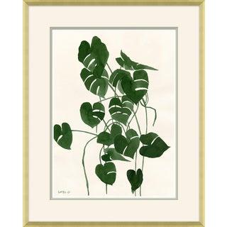 Sea Green Palm Framed Art Print
