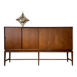 Danish Modern Tall Sideboard by Severin Hansen for Haslev For Sale