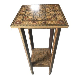 Late 20th Century Inlay Style Plant Stand For Sale