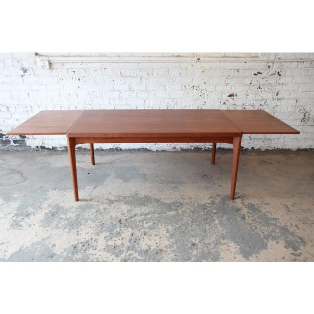 Henning Kjaernulf for Vejle Stole Danish Modern Teak Extension Dining Table - Image 2 of 10