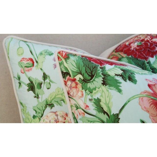 Designer Brunschwig & Fils Poppies Pillows - Pair - Image 7 of 9