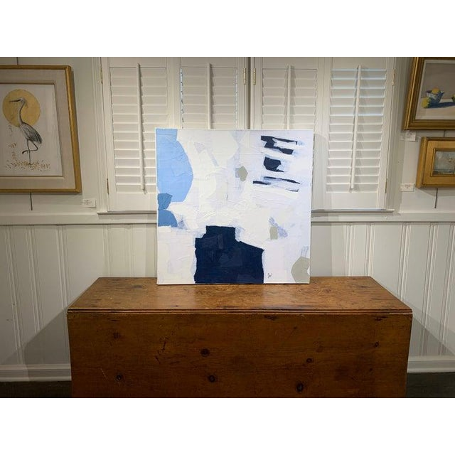 """""""My torn paper shapes are put together like large remains of sculpture being reassembled. My initial thoughts are on pure..."""