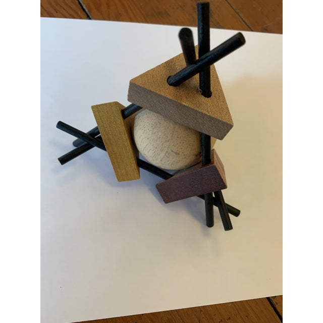 Fun, whimsical wooden and metal sculpture- perfect desk accessory!
