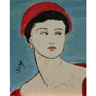 """""""Portrait of a Woman"""", Contemporary Painting by Sarah Myers For Sale"""