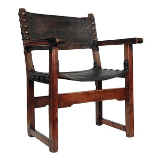 17th Century Spanish Arm Chair For Sale