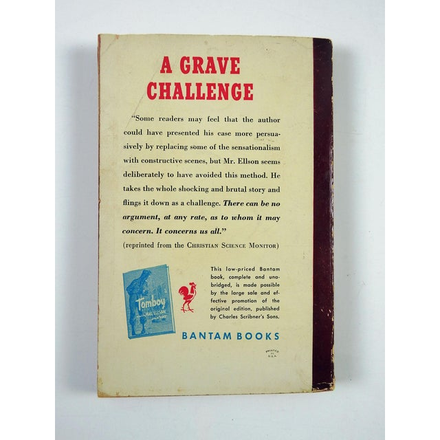 """""""Tomboy"""" Hal Ellson Bantam 1951 Vintage Pulp Paperback Book - Image 3 of 4"""