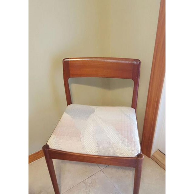 Teak Dining Room Table & Chairs - Set of 7 - Image 3 of 7