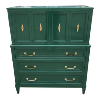 Dixon Powdermaker Kelly Green Highboy Dresser