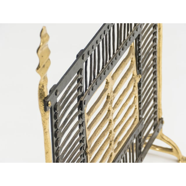 Metal Unique Brass and Wrought Iron Fire Screen Manner of Garouste and Bonetti, 1980s For Sale - Image 7 of 13