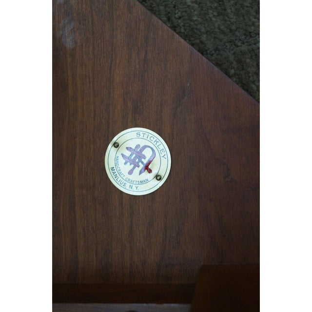 Cherry Wood Stickley Mission Style Cherry Octagon Small Side Table Taboret Stand For Sale - Image 7 of 10