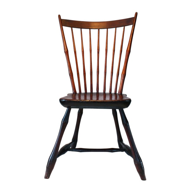 Primitive Country Sheraton Windsor Chair - Image 1 of 4