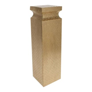 Hammered Gold Global Views Studio Circo Pedestal For Sale