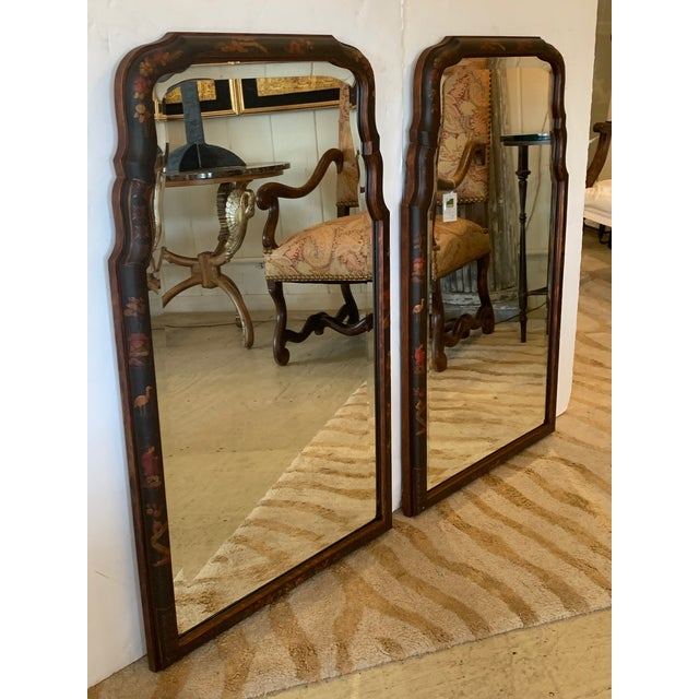 Hand Painted Chinoiserie Mirrors -A Pair For Sale - Image 12 of 13
