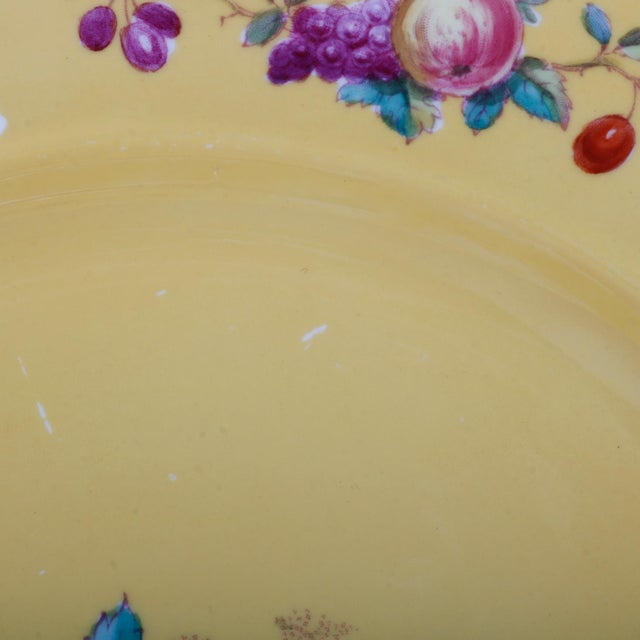 Tiffany and Co. 20th Century Copeland for Tiffany Floral Porcelain Luncheon Plates - Set of 12 For Sale - Image 4 of 5