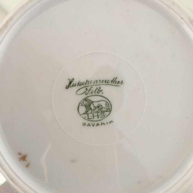 French Hutscheneruther French Style Lusterware Pearl White/Gilt Rim Bread Plates - Set of 5 For Sale - Image 3 of 5
