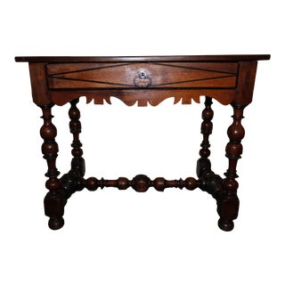 18th Century Italian Hall Table With Turn Legs For Sale