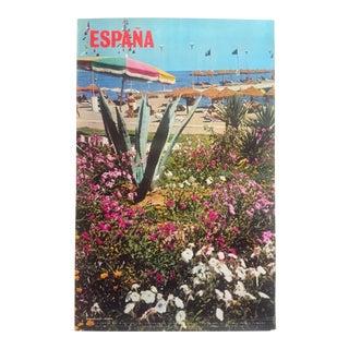 "Vintage Mid Century Rare "" Espana "" Torremolinos Malaga Spain Collector's Travel Poster For Sale"
