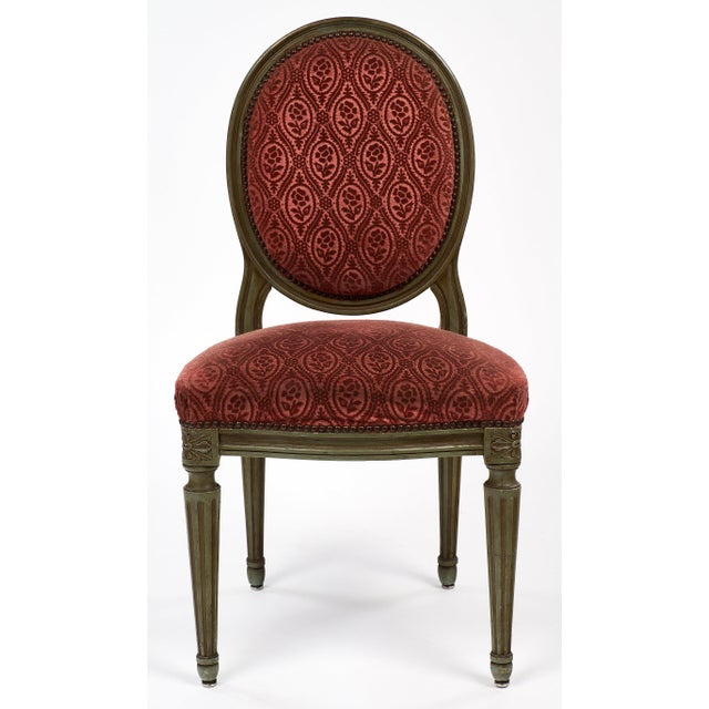Louis XVI French Antique Louis XVI Style Medallion Back Chairs - a pair For  Sale - - Distinguished French Antique Louis XVI Style Medallion Back Chairs
