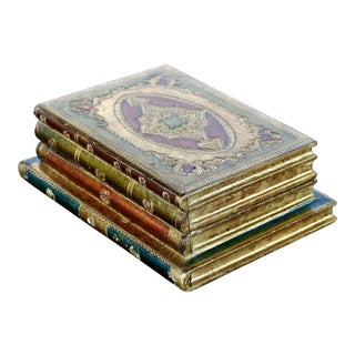 Vintage Florentine, Italy - Stacked Books Hinged Lidded Box For Sale