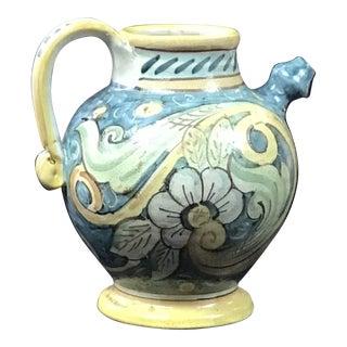 Italian Albarello Jar, Hand-Painted Italian Jug, Majolica For Sale