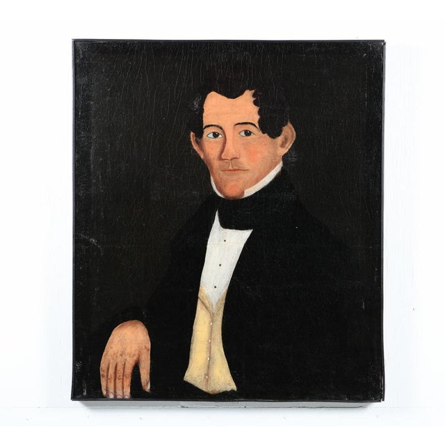 Antique Oil Painting Prior-Hamblin School Portrait of a Gentleman For Sale - Image 4 of 4