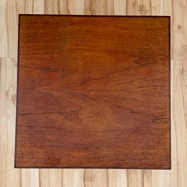 1960s 1960s Danish Modern Hans Olsen Teak Side Tables - a Pair For Sale - Image 5 of 11