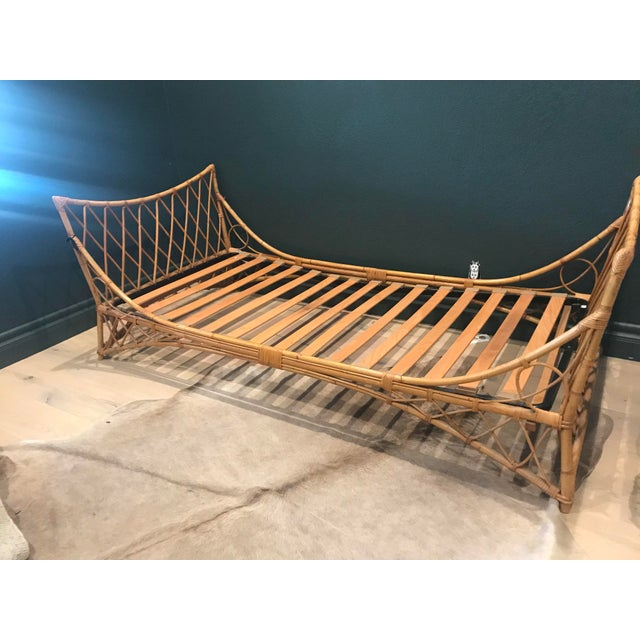 Bamboo Vintage French Bamboo Daybed For Sale - Image 7 of 7