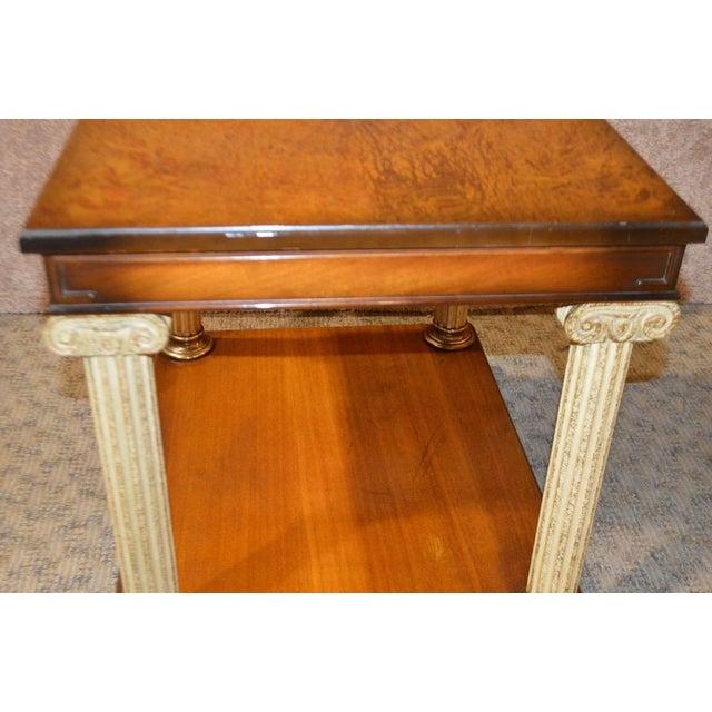 1950s Vintage Neo-Classic Style Corenthian Column Leg Side Tables - a Pair For Sale - Image 5 of 13