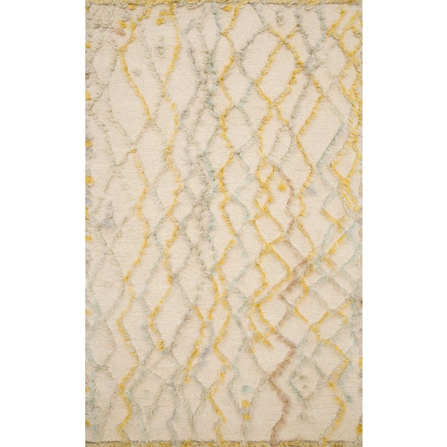 """Loloi Rugs Symbology Rug, Ivory / Multi - 2'6""""x7'6"""" For Sale"""