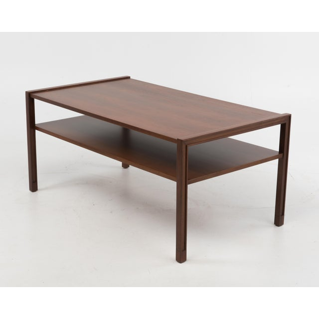 """Coffee or cocktail Table designed by Edward Wormley for Dunbar. The opening between the top and lower shelf is 6.1"""" and..."""