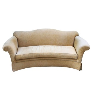 1990s Transitional Sherrill Camelback Sofa With Crescent Front For Sale