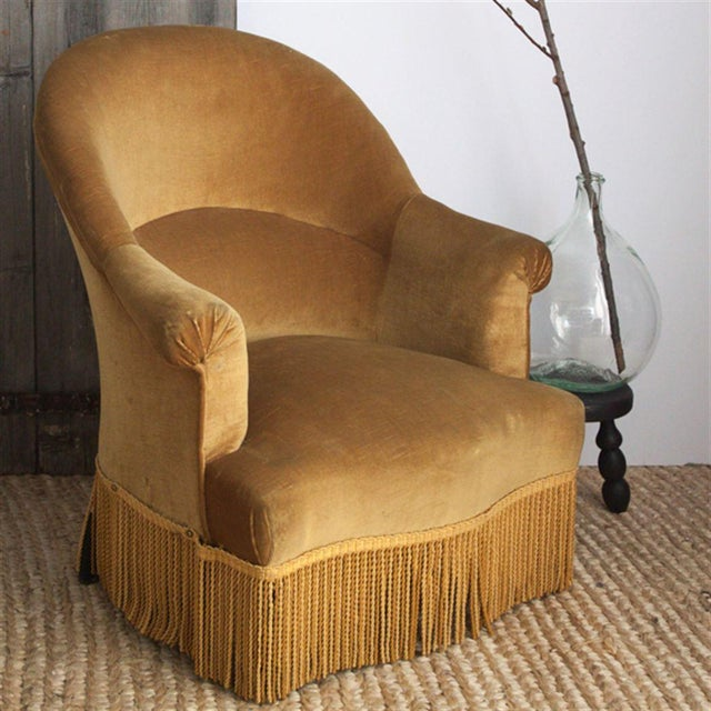 Textile Velvet Crapaud Chair For Sale - Image 7 of 7