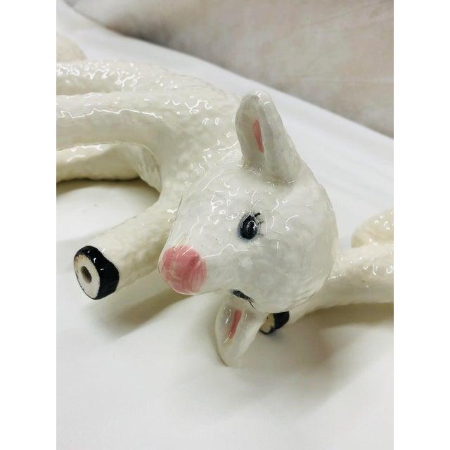 Vintage Ceramic Lamb - Set 3 For Sale - Image 4 of 7