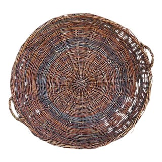 Large French Woven Willow Grape Harvest Basket