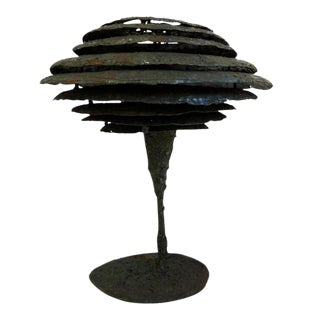 Brutalist Lamp by James Bearden For Sale