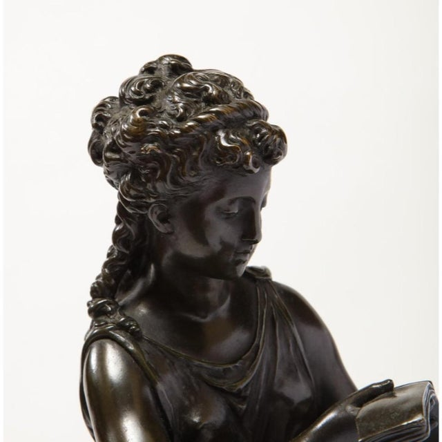Exquisite French Bronze, Rouge Marble, and Sèvres Style Porcelain Sculpture For Sale - Image 10 of 13